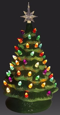 #3 ReLIVE Christmas Is Forever Lighted Tabletop Ceramic Tree