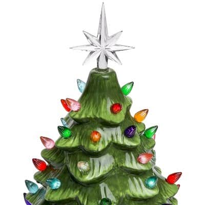 best choice products prelit ceramic tabletop christmas tree - 4 Christmas Tree