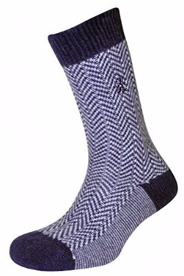 Pringle of Scotland Men's Cashmere Herringbone Socks (1 Pair)