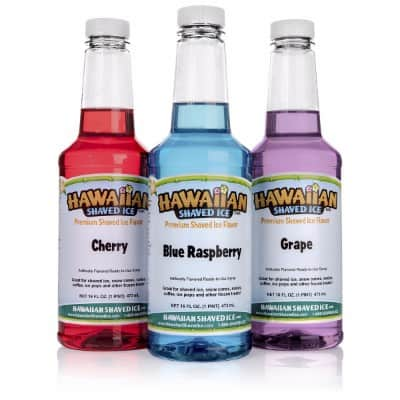 Hawaiian Shaved Ice 3 Flavor Pack of Shaved Ice Syrup