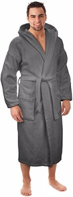 Hooded Terry Bathrobe Made in Turkey