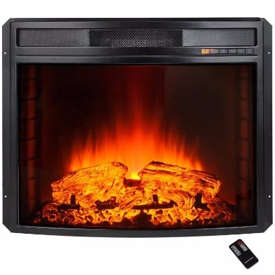AKDY 28 Black Electric Firebox Fireplace Heater Insert