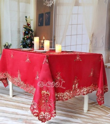 B-COOL Christmas embroidered tablecloth for rectangle Christmas tables