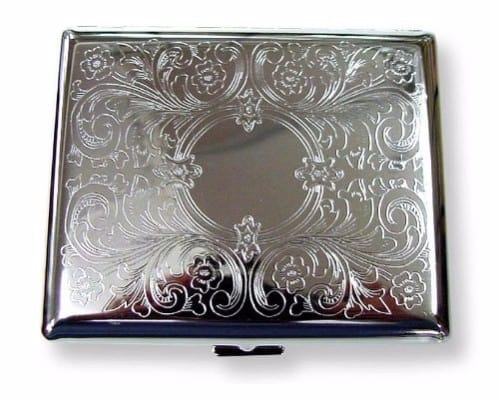 Bewild Etched Cigarette Case