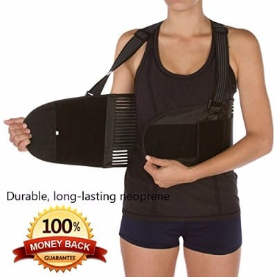 Back Braces for Men and Women | Straightens Lower Back ¬ Comfortable Fit with Shoulder