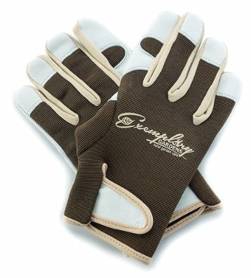 #9 Leather Gardening Gloves for Women and Men