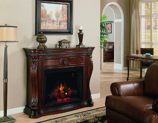 Bonus - ClassicFlame 33WM881-C232 Lexington Wall Fireplace Mantel