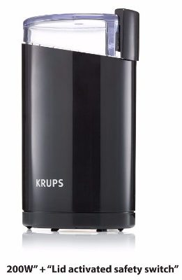 KRUPS F203 Electric Coffee and Spice Grinder, Black