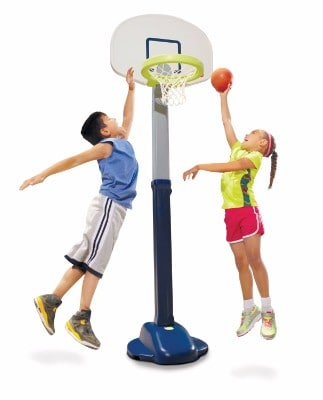 Little Tikes Adjust & Jam Toy Basketball Hoop