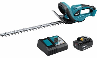 Makita XHU02M1 4.0Ah,18V LXT Cordless Hedge Trimmer, 22-inch
