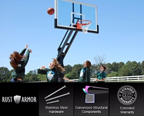 Pro Dunk Platinum Adjustable In-Ground Outdoor Basketball Hoop