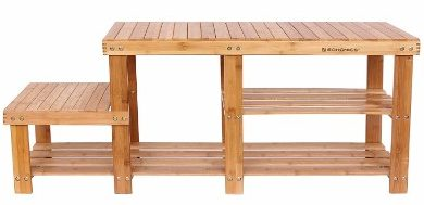 SONGMICS Bamboo Shoe Bench ULBS120N