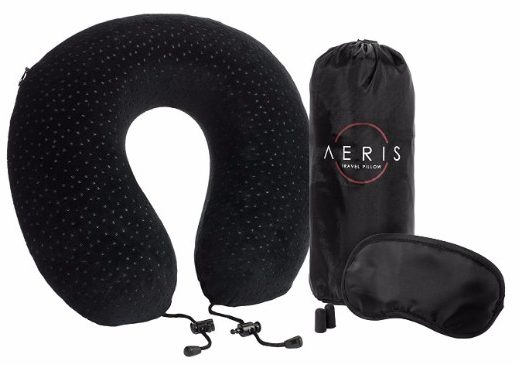 Aeris Memory Foam Travel Pillow