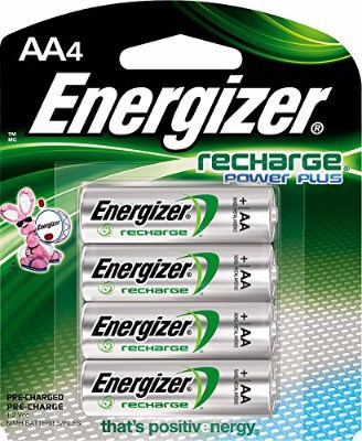 Energizer Recharge Power Plus 2300 mAh AA Rechargeable Batteries, 4 count