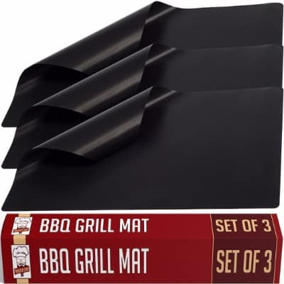Twisted Chef BBQ Grill Mat – Set of 3