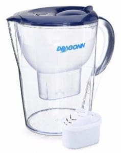 DRAGONN Alkaline Water Pitcher - 3.5 Liters, 7 Stage Filtration System