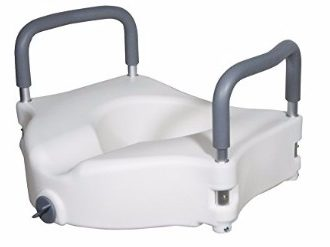 Drive Medical Raised Toilet Seat with Detachable Arms