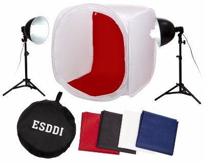 ESDDI Photo Tent 80 x 80 cm (32 by 32 inches) Photography Lighting Tent