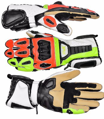 Hawk Sports HWK Premium Leather Racing Motorcycle Gloves