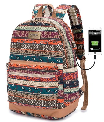 Kinmac Bohemian Water Resistant Laptop Backpack 15.6-Inch