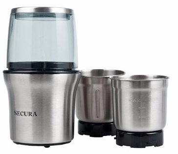 Secure Electric Coffee Grinder & Spice Grinder