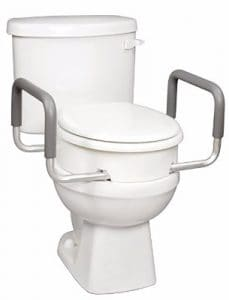 Carex Health Brands Elevated Toilet Seat with Handles