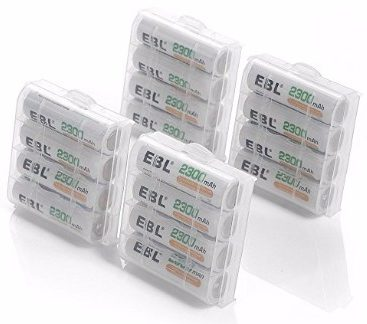 EBL Rechargeable AA Batteries 2300mAh Ni-MH (16-Count, Battery Storage Box)