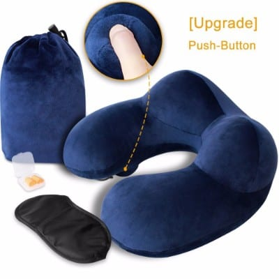 MLVOC Inflatable Travel Pillow