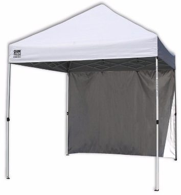 Quik Shade Commercial C100 10'x10' Instant Canopy with Wall Panel – White