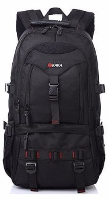 KAKA Laptop Backpack, 17-Inch, Black