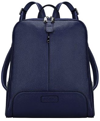 S-ZONE Women Genuine Leather Backpack Purse Travel Bag