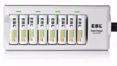 EBL 2300mAh Ni-MH Rechargeable AA Batteries, 8 Pieces