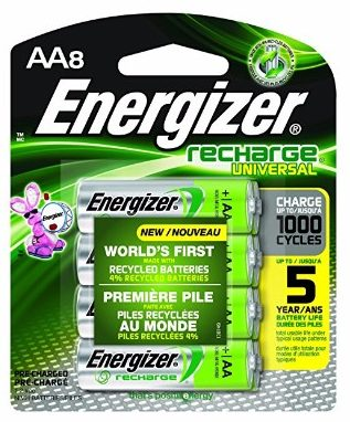 Energizer Recharge Universal 2000 mAh Rechargeable AA Batteries, 8 count