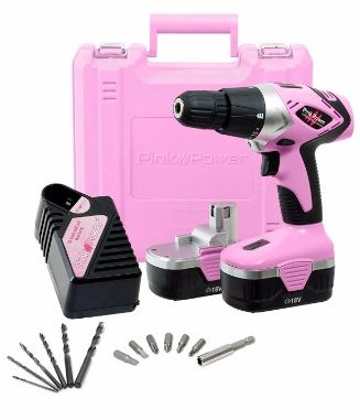 Pink Power PP182 Cordless Electric Drill Driver, 18V