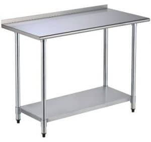 SUNCOO Commercial Stainless Steel Work Food Prep Table