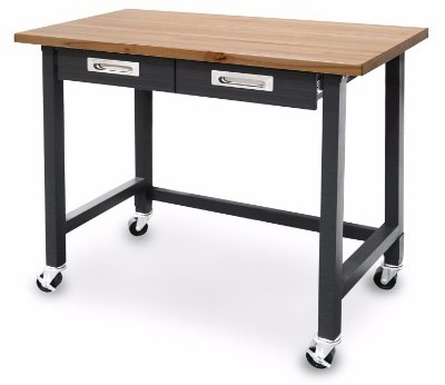 Seville Classics (UHD20271B) Ultra Graphite Wood Top Rolling Workbench