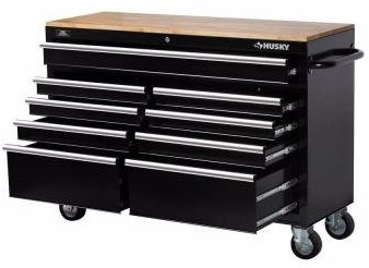 Husky  Drawer Mobile Rolling Workbench Black