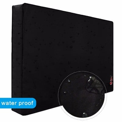 Outdoor TV Cover 40_ - 43_ with Scratch Resistant Liner, New Design Bottom Seal