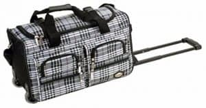Rockland Luggage Rolling Duffle Bag, 22-Inch