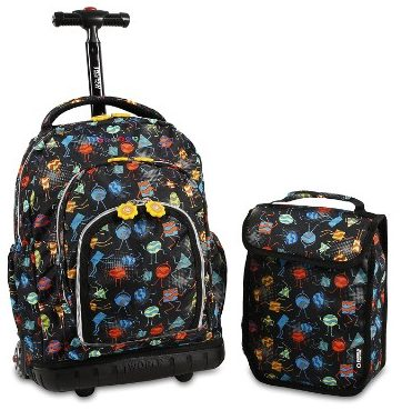 J World New York Boys' Lollipop Rolling Lunch Kid's Backpack