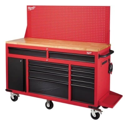 Milwaukee 60 in. 11-Drawer and 1-Door 22 in. D Mobile