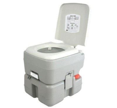 SereneLife Portable Toilet, 5.3 Gallon (20-Liter)