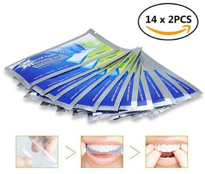 Teeth Whitening Strips 28 Pcs, Dental Care Kit, iFanze Professional Tooth Bleaching Gel