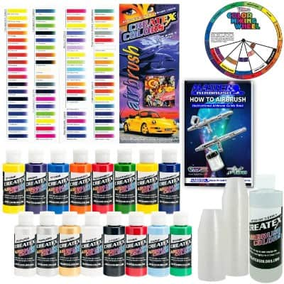 Createx KIT-SUPER16 Airbrush Starter Kit