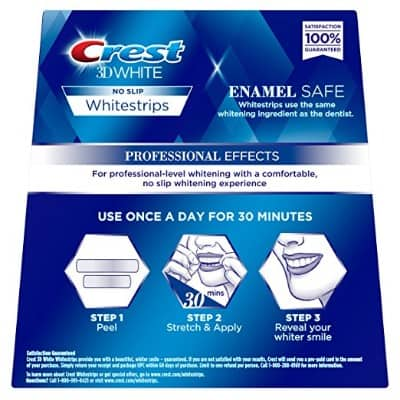 Crest 3D White Professional Effects Whitestrips Whitening Strips Kit, 20 Treatments