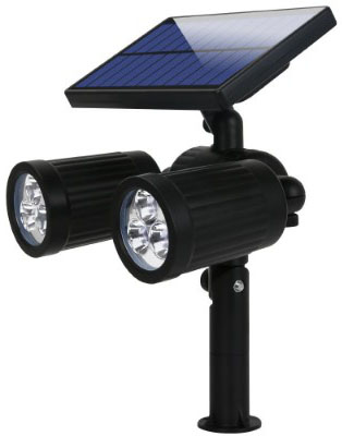 Hallomall Dual Head Adjustable Solar Spotlight