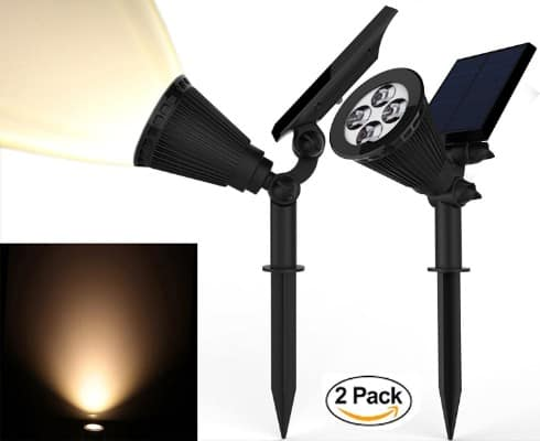 Magictec 2-in-1 Solar Spotlights, 2-Pack