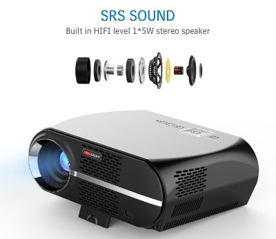 VIVIBRIGHT GP100 LCD 1080P Full-HD Video Projector, 3500 Lumens