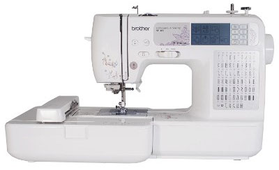 Brother SE400 Computerized Sewing, 4x4 Embroidery Machine With 67 Built-in Stitches