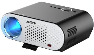 CiBest GP90 Portable HD 1080P LCD Projector, 3500 Lumens